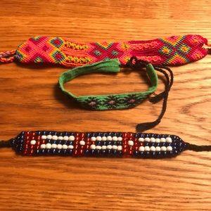 Handmade bracelets from travels